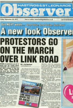 Hastings Observer front page