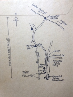 The route to the Camp