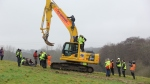 Digger-diving in Combe Haven: 7 January 2013