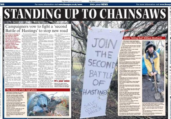 Centre spread from today's (10 Jan) Brighton Argus