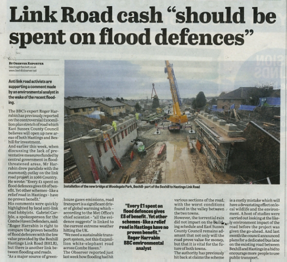 link road floods_bexhill_observer