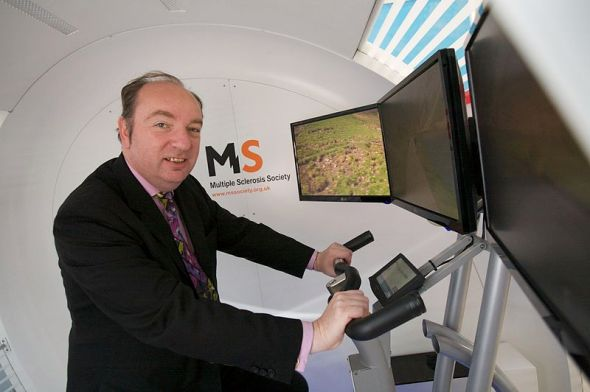 Pedalling away from difficult questions? Under-secretary of State for Transport Norman Baker
