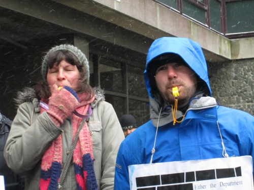 At least blowing the whistles helped warm us up in the sub-zero temperatures! www.operationdisclosure.wordpress.com