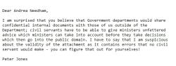 peter jones email text