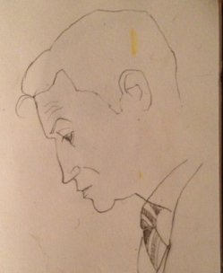 The prosecutor - a courtroom sketch by Emily Johns