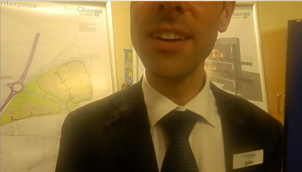 "Sea Change's ""John"" with his company badge"