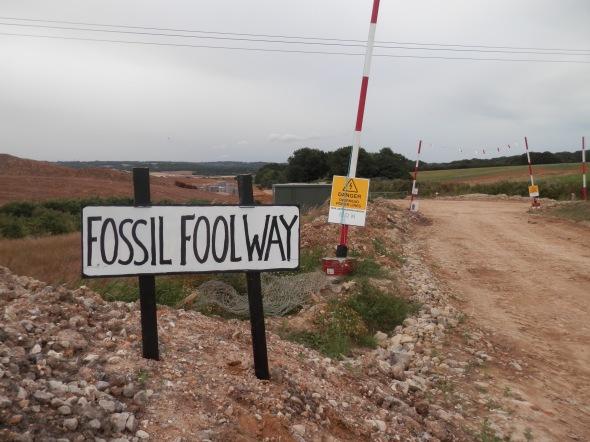 Fossil Fool Way near Glover's Farm, Sidley
